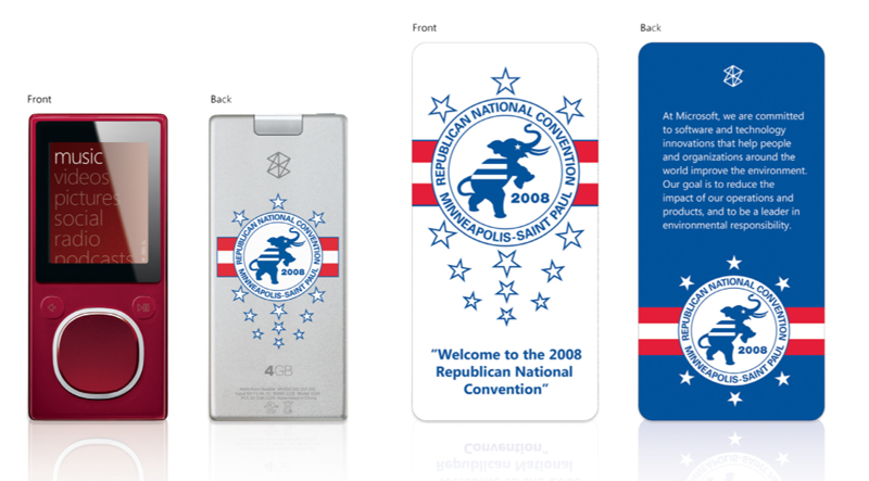 Democrats and Republicans Get Special Edition Zunes For Their Conventions