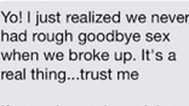 Creepy Ex Texts Request for Rough Breakup Sex, Has Very Specific Hours