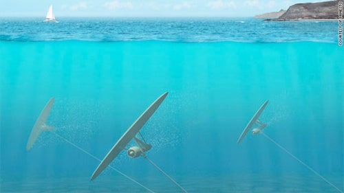 Underwater Turbines Attached To Kites Could Save A Few Climate Problems
