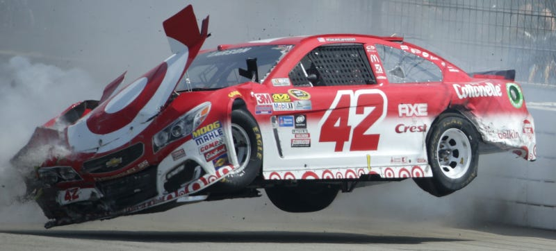 NASCAR's Kyle Larson Is Still Sore From Massive Wall Hit Last Weekend