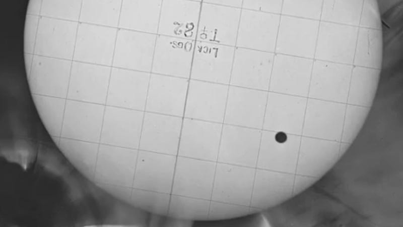 Watch a video of the transit of Venus. From 1882.