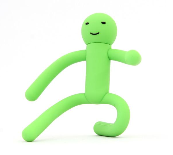 The Green Man USB Drive Can Do Impossible Yoga Poses