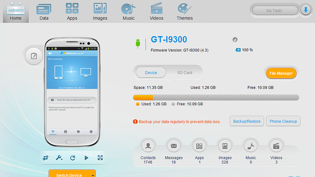 MoboRobo is a Powerful Desktop Manager for Android and iOS Devices