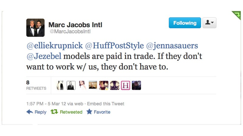 Marc Jacobs Responds to Allegations of Non-Payment: 'If Models Don't Want To Work With Us, They Don't Have To'