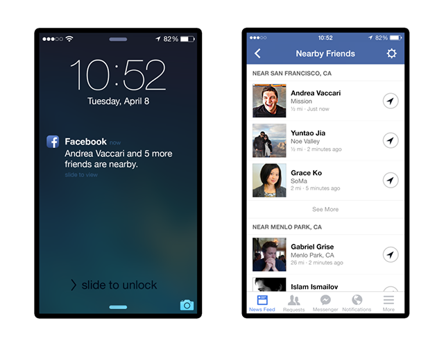 "Facebook Adds ""Nearby Friends"" to Show You Where Everyone's At"