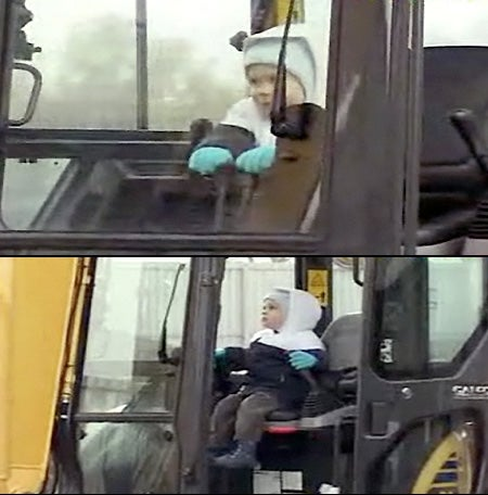 3 Year-Old Russian Superbaby Can Operate Heavy Machinery