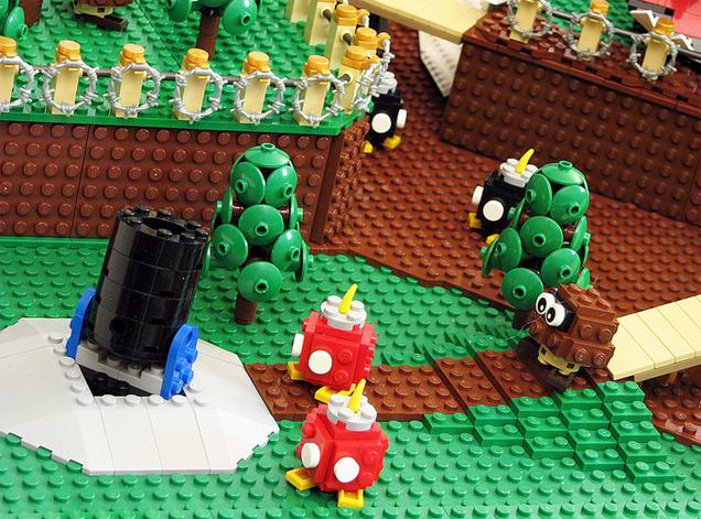 El primer nivel de Super Mario 64 hecho en Lego 856152646688946836