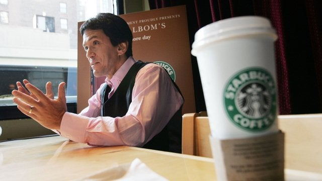 Note To Starbucks Baristas Everywhere: If You Find Yourself Serving Coffee To Mitch Albom, Spill It On Him
