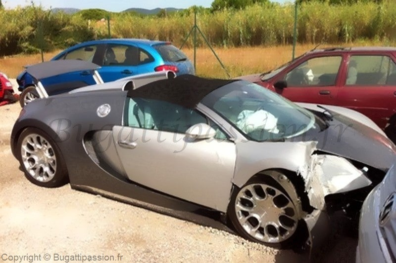 Owner crashes $2.9 million first production Bugatti Veyron Grand Sport