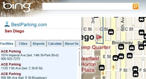 Bing Maps Trip Planner Finds Gas and Parking Along Your Route