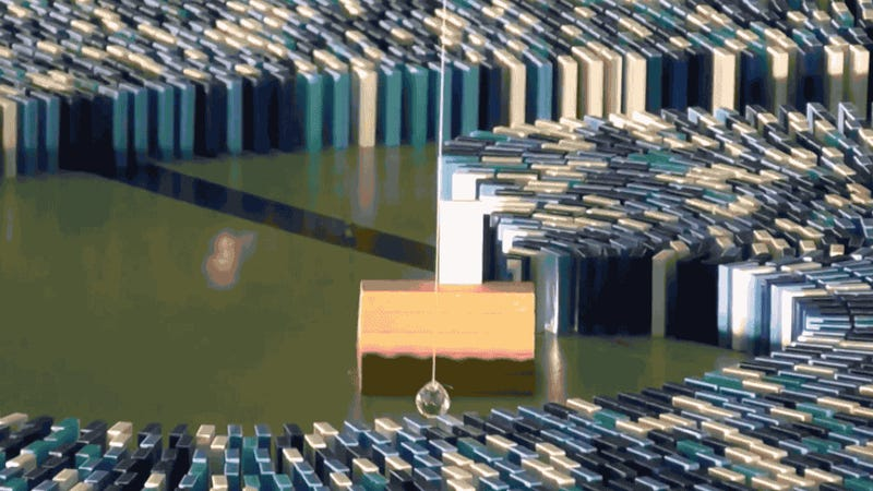 272,297 dominos toppling is the most satisfying thing you'll see today