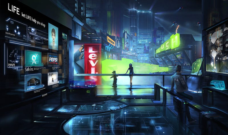 Concept Art Writing Prompt: A Visit to the Mall of the Future