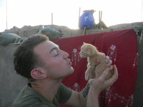 Adorable Marines Rescue Adorable Kittens In Afghanistan; Cuddling Ensues