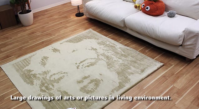 "This Clever Carpet ""Printer"" Brushes Pictures Onto Your Rugs"