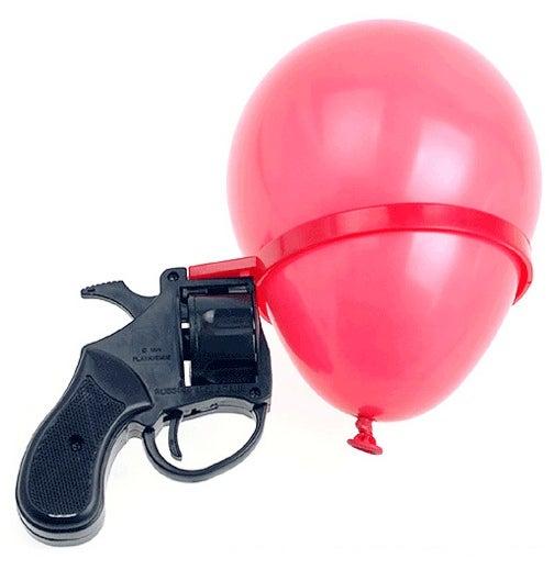 Russian Roulette Balloon Gun: Loser Gets a Blown Eardrum