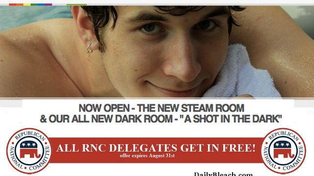 Gay Bathhouse in Tampa to GOP Delegates: Come In for Free