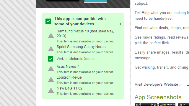 Google Play Shows You Why an App Is Incompatible with Your Device