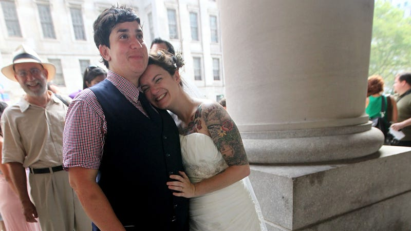 Sweet Scenes From Today's Same-Sex Weddings in NY