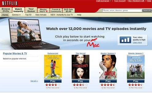 Netflix Streaming Video Finally on Macs