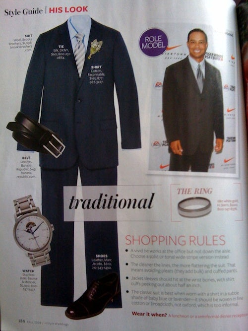 Tiger Woods Let Down InStyle Weddings, Too