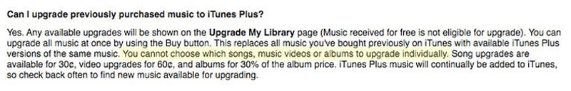 iTunes Wants $250 To Upgrade My Music Collection (Or the Deal's Off)