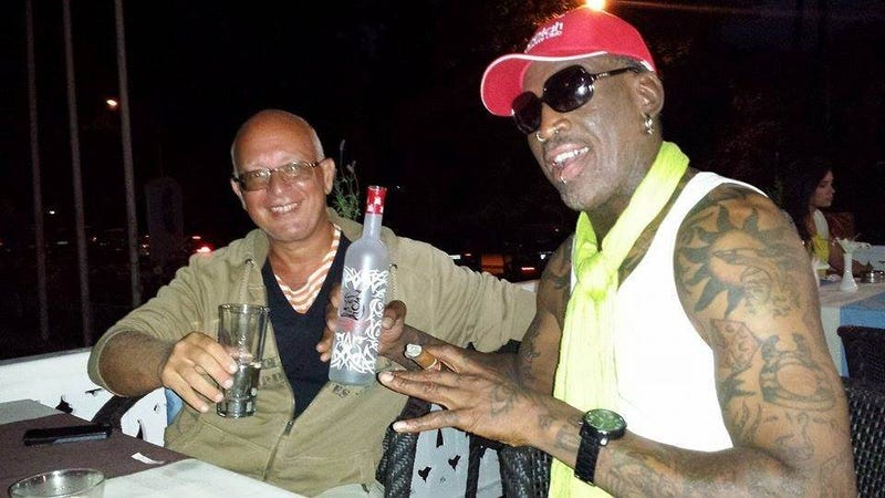 Dennis Rodman Parties With Latvian Million-Dollar Armored Car Company