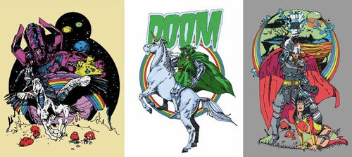 Galactus loves rainbows, but Dr. Doom loves unicorns more