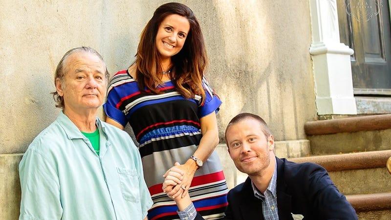 Bill Murray Crashes Couple's Engagement Photo Shoot