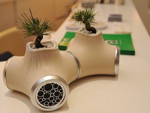 JVC's Sound Garden Concept Is Modular, Bonsai'd-Up Concealed Speaker System