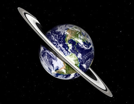 If Earth Had a Ring Like Saturn