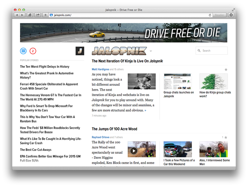 Group chats launches on Jalopnik