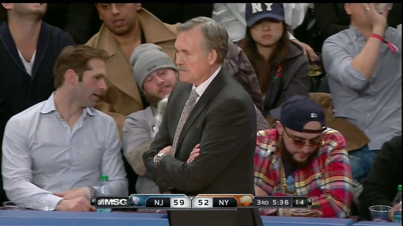 Some Of Your Favorite Deadspin Article Subjects Are In Attendance At Tonight's Knicks Game