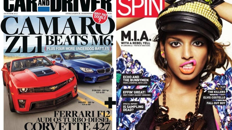 Spin Magazine Subscribers To Get Issues Of Car And Driver To Not Read In The Bathroom