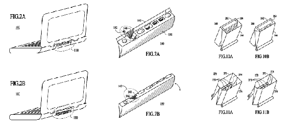 Apple Patents Hideable Ports on Notebooks
