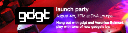 GDGT Launch Party Tonight in San Francisco, and We'll Be There