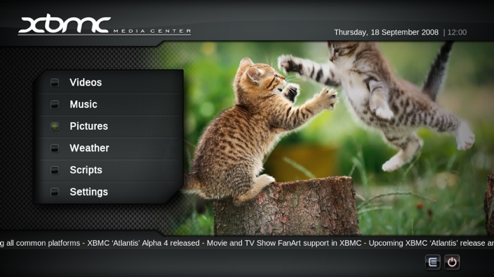 XBMC 8.10 Atlantis Leaves Beta
