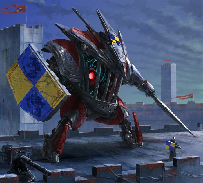 Concept Art Writing Prompt: The Medieval Mech