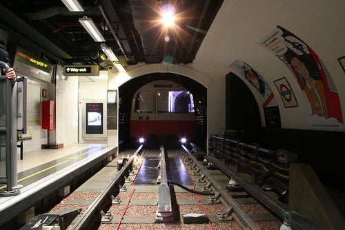 London has a Tube station...on the third story of an office building