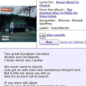 Find lyrics at Yahoo Music