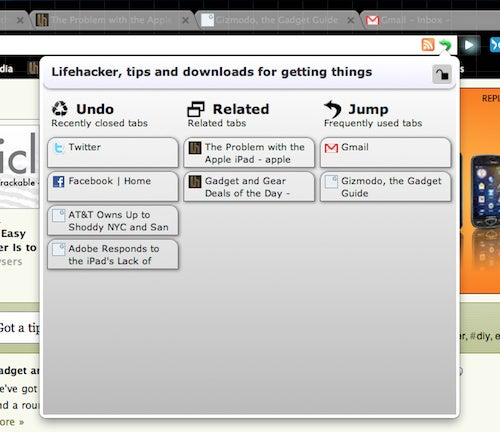 TabJump is a Smart, Organized Tab Manager for Google Chrome