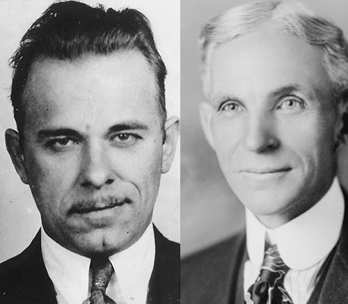 The Real History Of John Dillinger And Henry Ford
