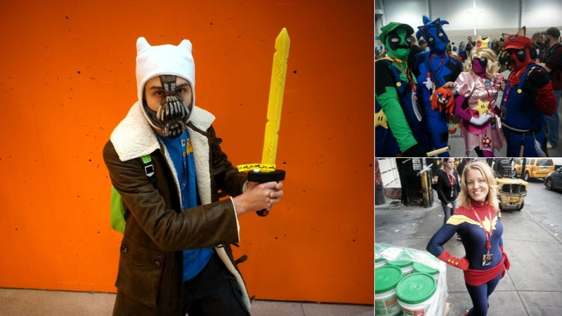 NYCC Cosplay: Zombie Mario, Wonder Tot, and ... Adventure Time Bane?