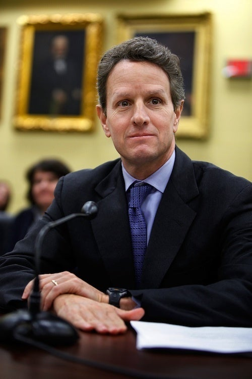 Tim Geithner Is Theoretically In Favor Of Women Running Wall Street