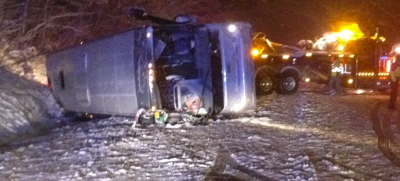 Bus Driver Charged With Reckless Driving After Crash In Snowy Virginia