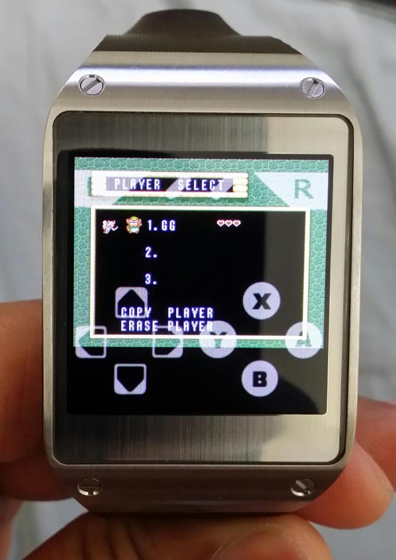 A Link to the Past running on a Galaxy Gear