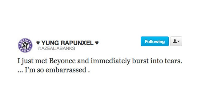 Azealia Banks Has the Logical Reaction to Meeting Beyonce