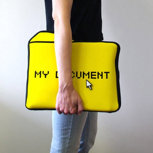 Iconic My Document Laptop Sleeve Now Purchasable