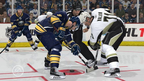 Physics and Faceoffs in NHL 11