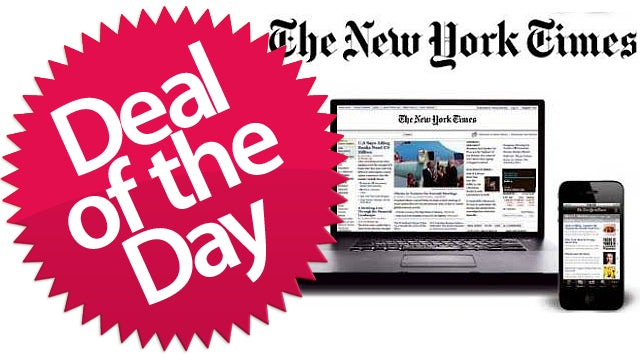 The New York Times Digital Subscription Is Your Sophisticated Bathroom-Reading-Material Deal of the Day
