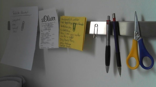 Repurpose a Knife Holder to Organize Office Supplies and Notes